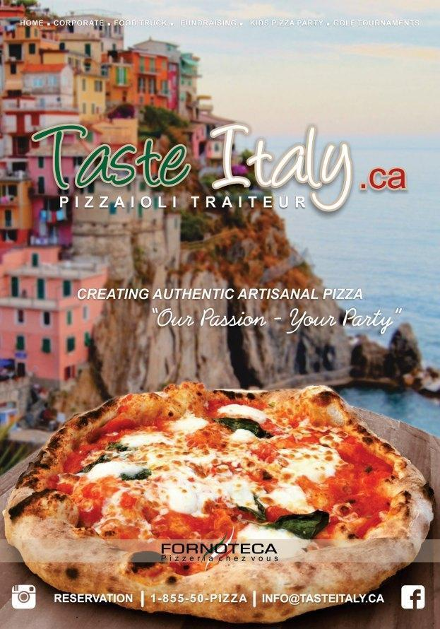 Taste Italy - Pizzaioli Traiteur Catering - Montreal-East, Montreal - Pizza Cuisine Restaurant